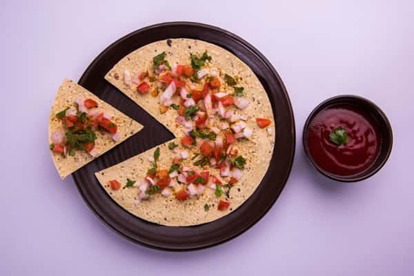 Veggi Palate Masala Papad Recipe-Chef Veena